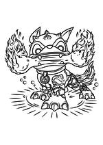 Раскраска - Скайлендеры - Хот Дог с огненной костью