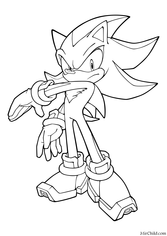 Раскраска - Sonic the Hedgehog - Ёж Шэдоу отвечает ...