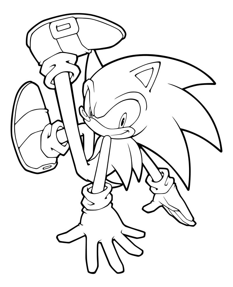 Раскраска - Sonic the Hedgehog - Ловкий Ёж Соник | MirChild