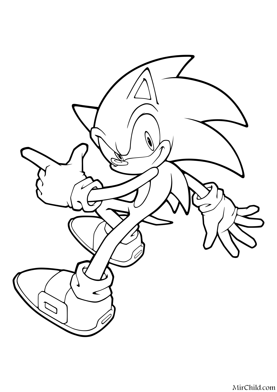Раскраска - Sonic the Hedgehog - Ёж Соник - непоседа ...