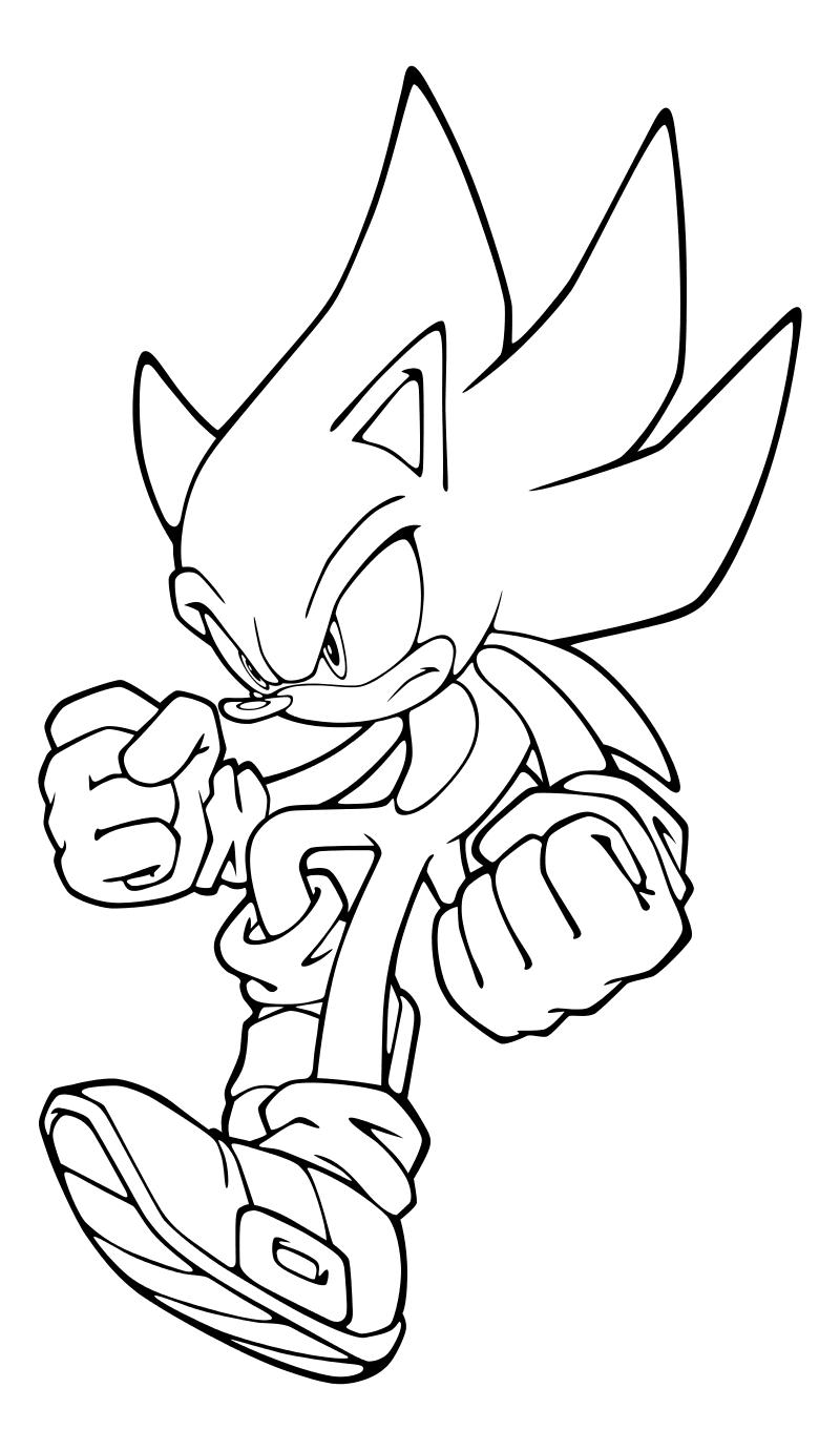 Раскраска - Sonic the Hedgehog - Супер Соник | MirChild