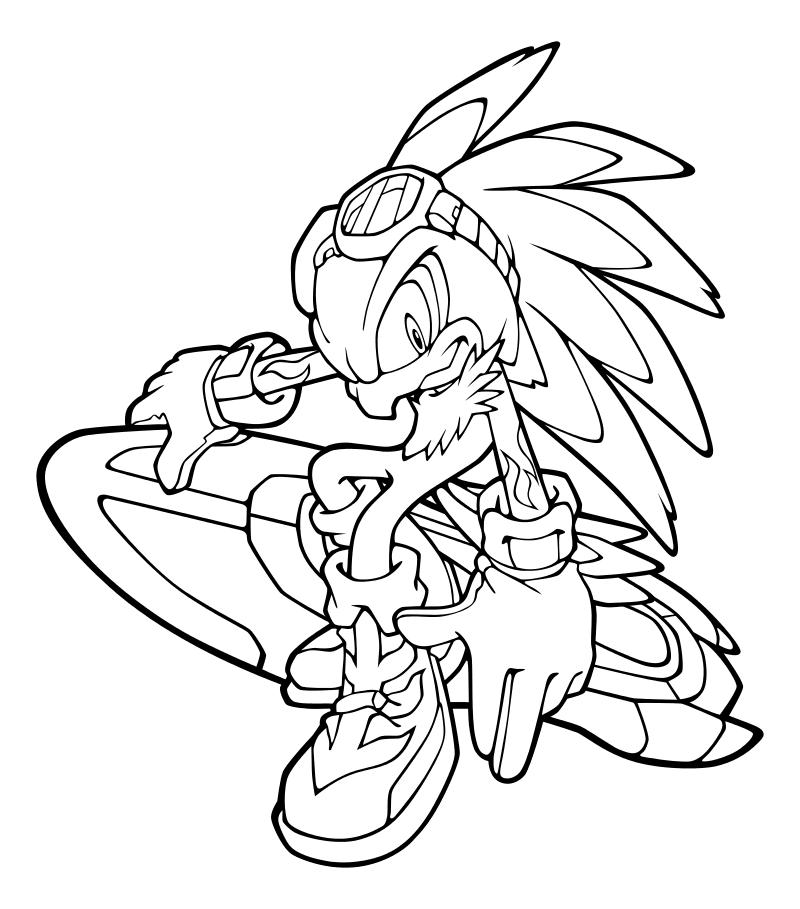 Раскраска - Sonic the Hedgehog - Ястреб Джет | MirChild