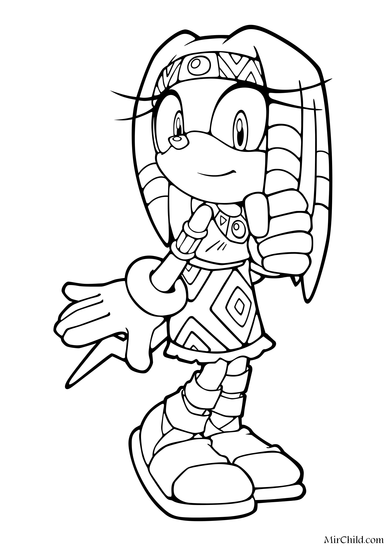 Раскраска - Sonic the Hedgehog - Ехидна Тикал | MirChild