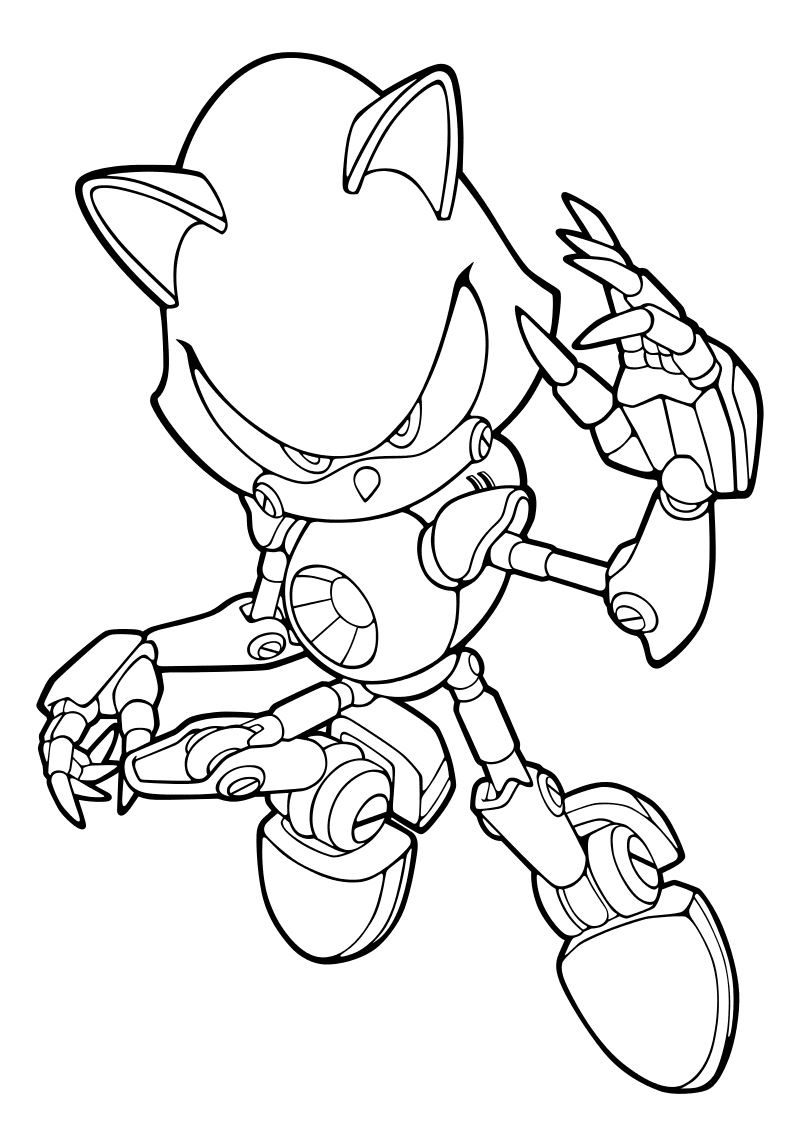 Раскраска - Sonic the Hedgehog - Метал Соник | MirChild