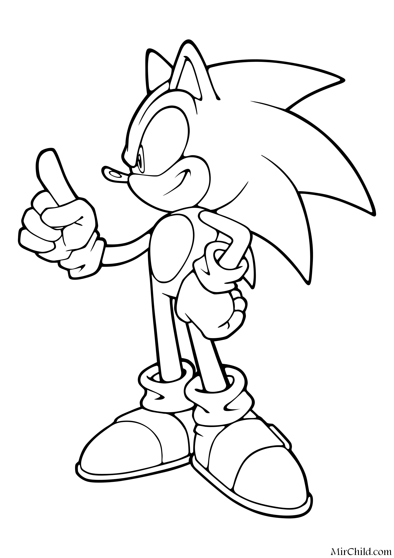 Раскраска - Sonic the Hedgehog - Решительный Ёж Соник ...