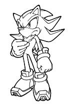 Раскраска - Sonic the Hedgehog - Серьёзный Ёж Шэдоу