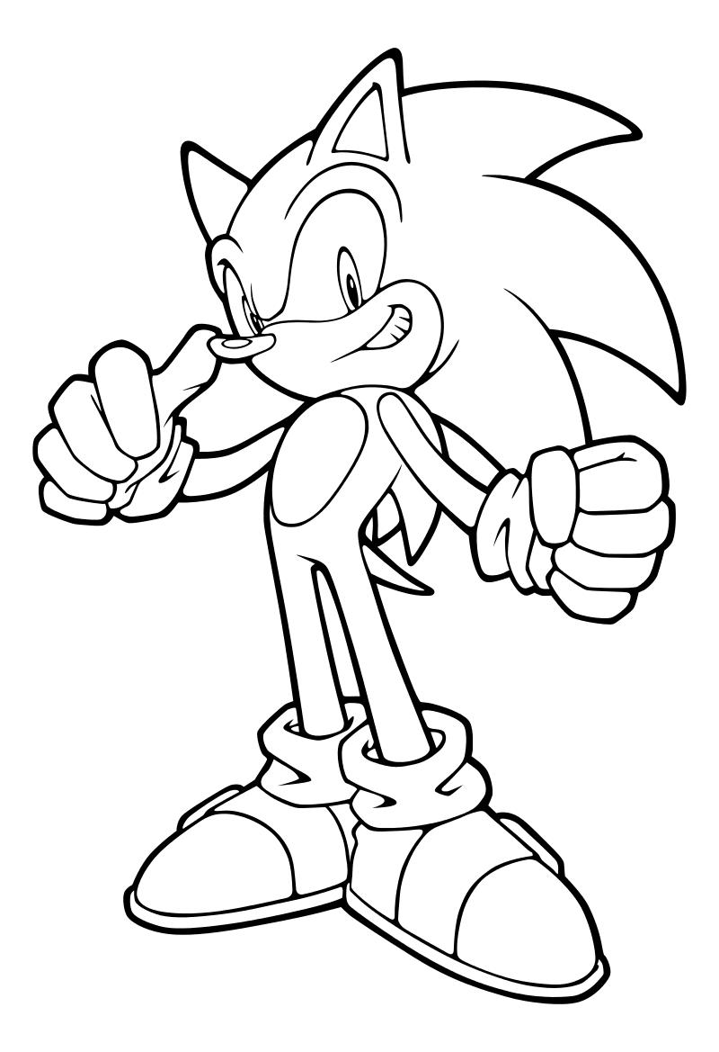 Раскраска - Sonic the Hedgehog - Благородный Ёж Соник ...