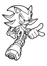 Раскраска - Sonic the Hedgehog - Ёж Шэдоу родился на космической станции ARK
