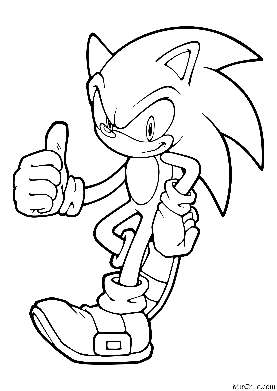 Раскраска - Sonic the Hedgehog - Ёж Соник - всё в порядке ...