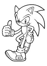 Раскраска - Sonic the Hedgehog - Ёж Соник - всё в порядке