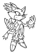 Раскраска - Sonic the Hedgehog - Кошка Блейз - принцесса