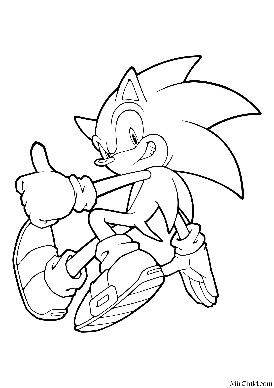Раскраска - Sonic the Hedgehog - Ёж Соник способен безумно ...