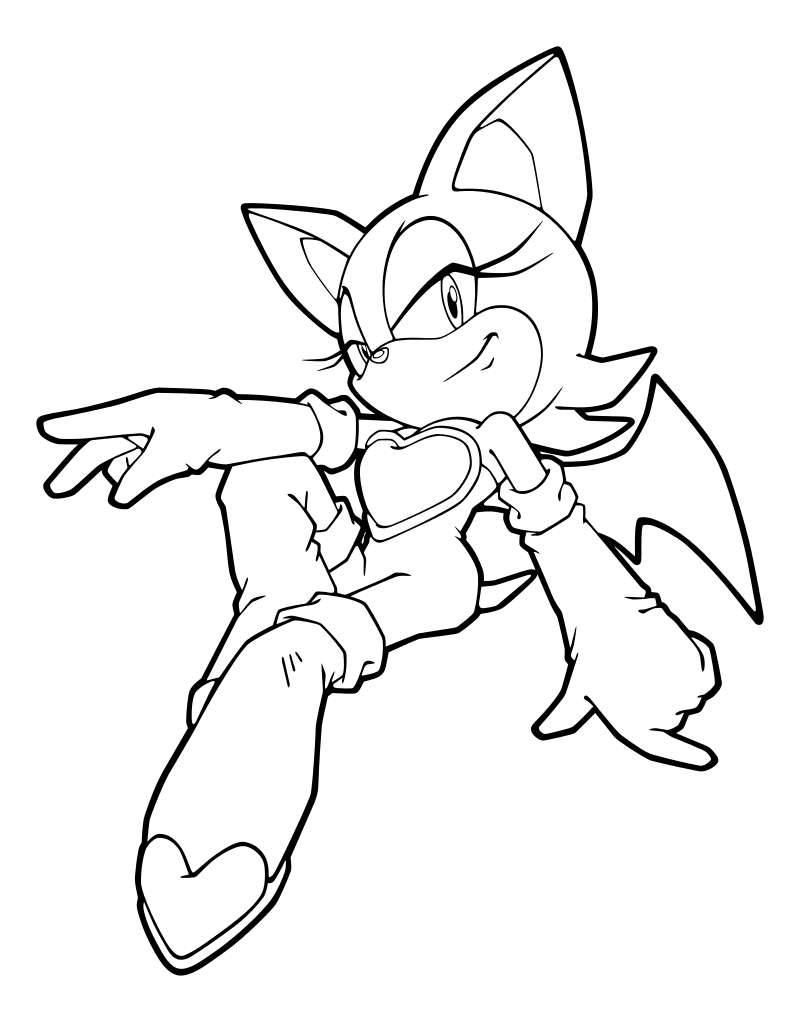 Раскраска - Sonic the Hedgehog - Немного самовлюблённая ...