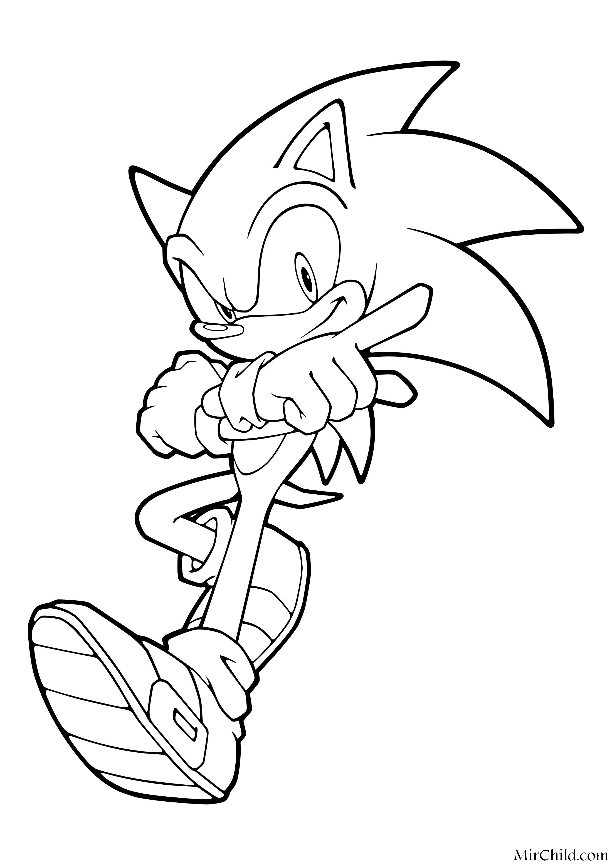 Раскраска - Sonic the Hedgehog - Ёж Соник обладает ...