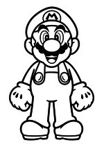 Раскраска - Супер Марио - Марио