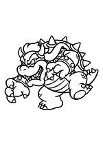 Раскраска - Супер Марио - Боузер