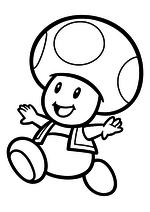 Раскраска - Супер Марио - Тоад