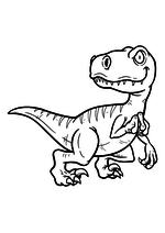 Раскраска - Динозавры - Велоцираптор