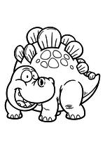 Раскраска - Динозавры - Улыбчивый стегозавр