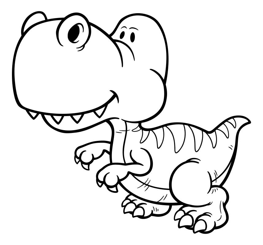 Раскраска - Динозавры - Детёныш велоцираптора | MirChild
