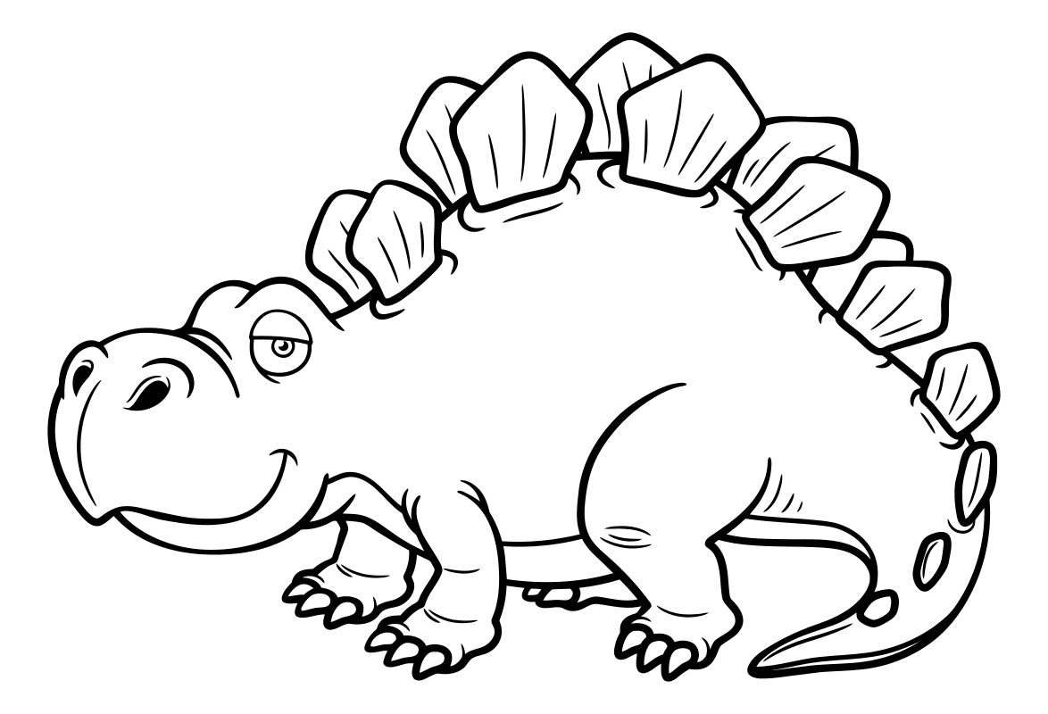 Раскраска - Динозавры - Стегозавр | MirChild